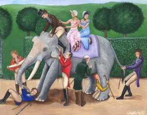 A vak emberek es az elefant